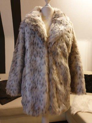 Even & Odd Fake Fur Jacket white-silver-colored