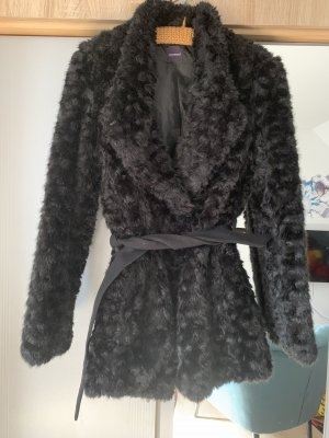 Promod Giacca di pelliccia nero