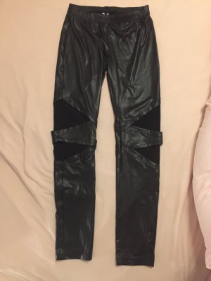 Fakeleder Leggings mit Cut-Outs