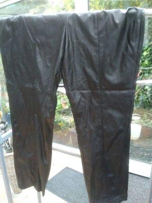 Pantalón de cuero negro Poliéster