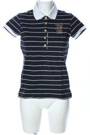 Falcon Camiseta tipo polo negro-blanco letras bordadas look casual