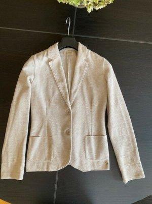 Falconeri Blazer en maille tricotée beige clair-gris clair coton