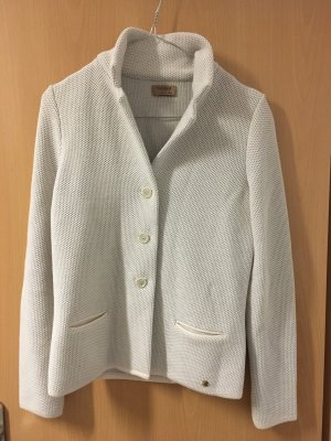 Falconeri Veste tricotée en grosses mailles crème-beige clair