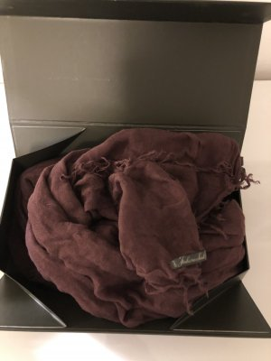Faliero sarti Cashmere Scarf bordeaux-brown red modal fibre