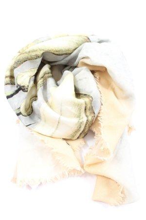 Faliero sarti Écharpe bavaroise crème-gris clair style décontracté