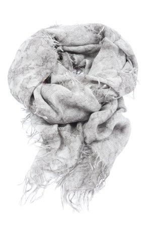 Faliero sarti Écharpe en laine gris clair motif abstrait style décontracté