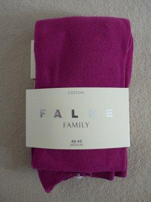 Falke Pantalón de lana rojo frambuesa Algodón