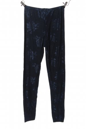 Falke Leggings blue allover print casual look