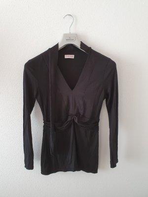 Falke T-shirt col en V noir