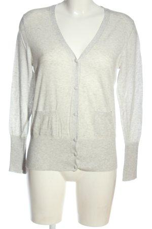 Falke Cardigan in maglia grigio chiaro puntinato stile casual