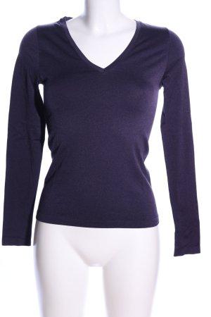 Falke V-Ausschnitt-Shirt blau Casual-Look