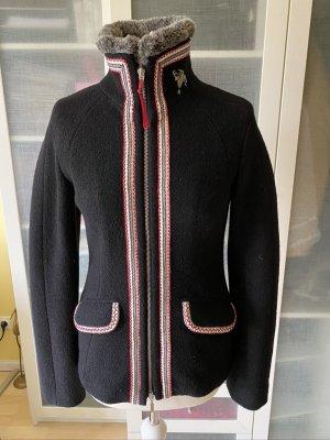 Tradycyjna kurtka czarny Wełna