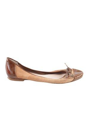 faltbare Ballerinas braun-creme Casual-Look