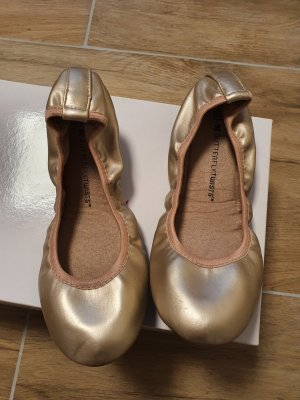 Butterfly twists Foldable Ballet Flats rose-gold-coloured