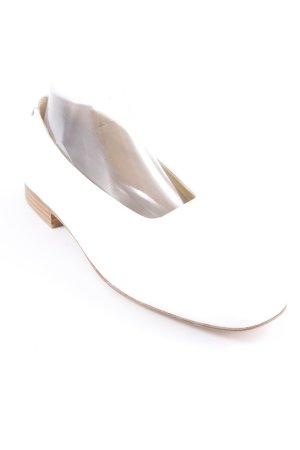 Bailarinas plegables blanco look casual
