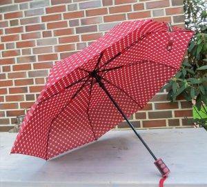 Folding Umbrella dark red polyester