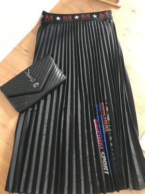 H&M Premium Plaid Skirt black