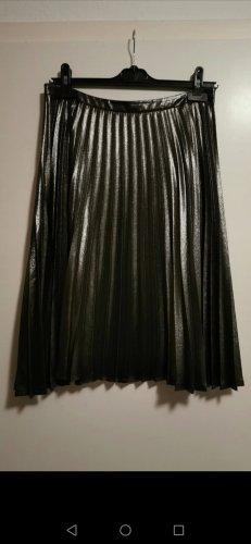 Cinque Falda de seda color plata