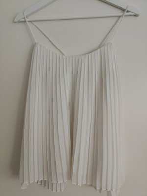 Camicia cropped bianco sporco