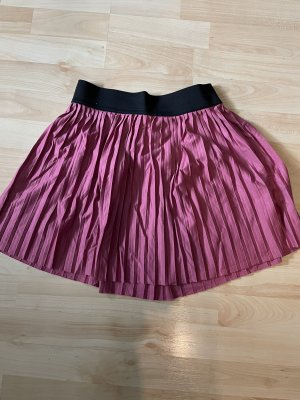 Coulors of the World Plaid Skirt pink-dusky pink