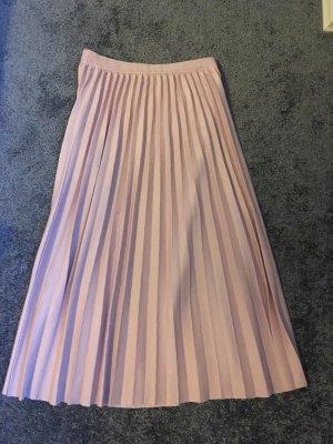 Plisowana spódnica w kolorze różowego złota