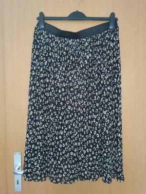 Tiulowa spódnica czarny-beżowy
