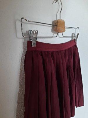 H&M Divided Plaid Skirt carmine-bordeaux