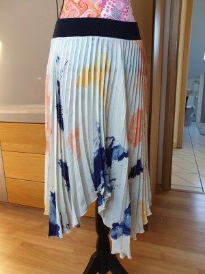 Zara Plaid Skirt light blue-dark blue