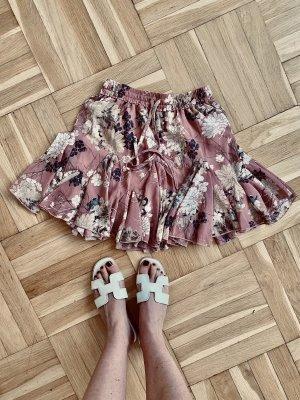 SheIn Plaid Skirt rose-gold-coloured-white
