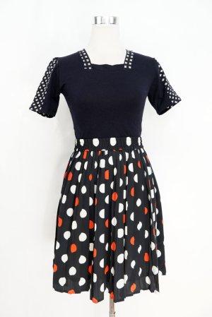True Vintage Falda plisada multicolor Poliéster