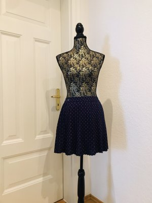 Faltenrock in blau mit Ananasprint/ Skater/ Uniform