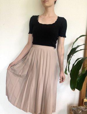 Vintage Plaid Skirt dusky pink