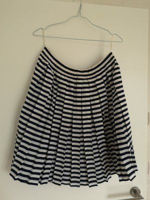 MAYON Geplooide rok wit-donkerblauw