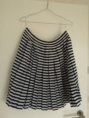 MAYON Falda plisada blanco-azul oscuro