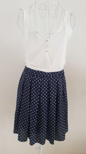 Esprit Plisowana spódnica biały-niebieski