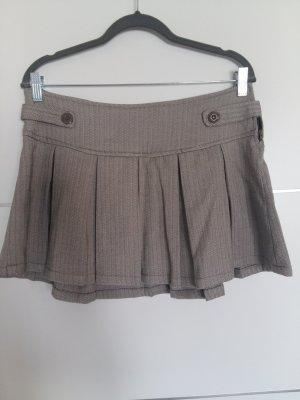 Plisowana spódnica szaro-brązowy