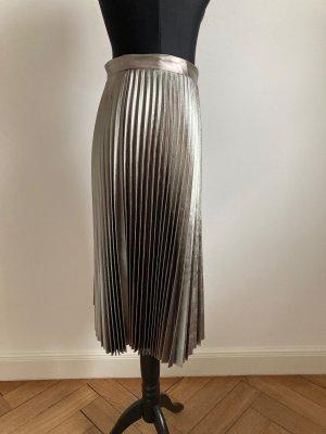 H&M Plisowana spódnica srebrny Poliester