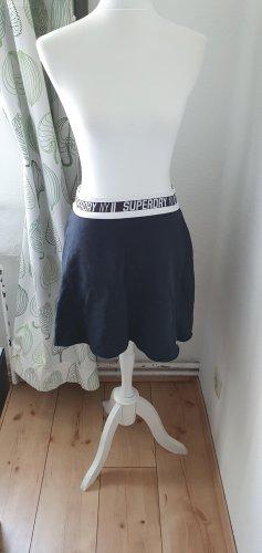 Superdry Plisowana spódnica biały-czarny