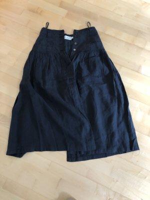 René Lezard Plaid Skirt black