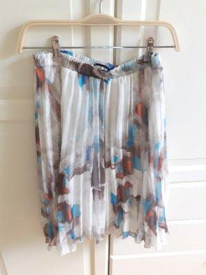 Sophyline&Co Plaid Skirt light grey-light blue