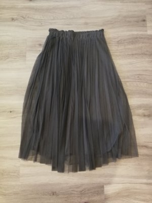 Stradivarius Plaid Skirt dark grey