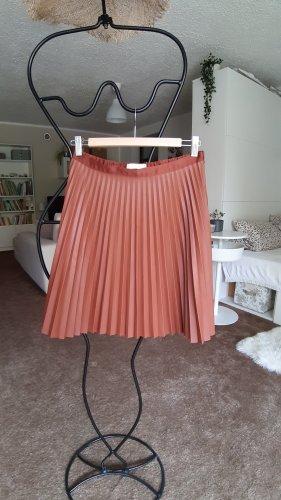 Vila Plisowana spódnica brązowy Poliester