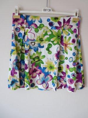 Risskio Jupe à plis multicolore coton