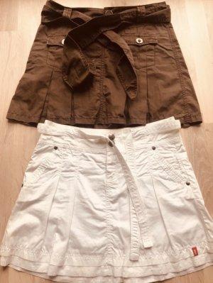 edc Plaid Skirt brown-white