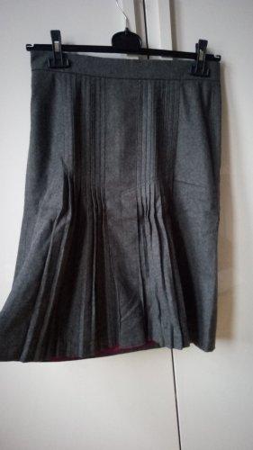 Hirsch Plaid Skirt multicolored wool