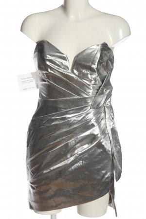 Fame and Partners Mini Dress silver-colored elegant