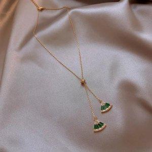 Fan Halskette Grün