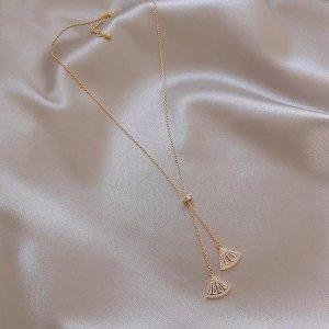 Fan Halskette Weiß
