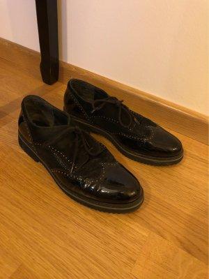 Gabor Comfort Wingtip Shoes black