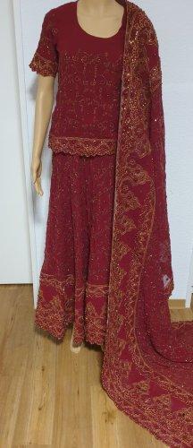Aus Indien Suknia ślubna złoto-bordo